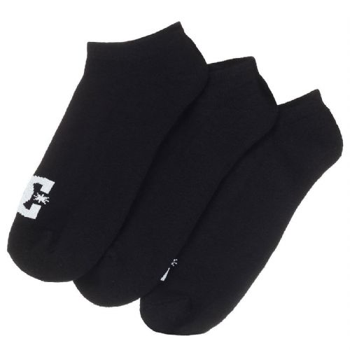 DC SHOES MENS SOCKS.NEW 3 PACK ANKLE BLACK TRAINER SPORTS SOCK UK 7-10 8W 151 KV
